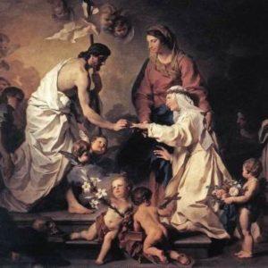 santa caterina, matrimonio mistico, quadro di pierre subleyras